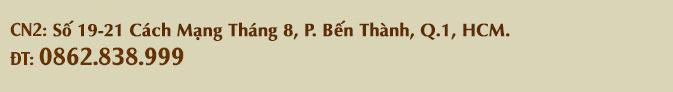 Số 19-21 Cách Mạng Tháng 8, P.Bến Thành, Q.1, HCM