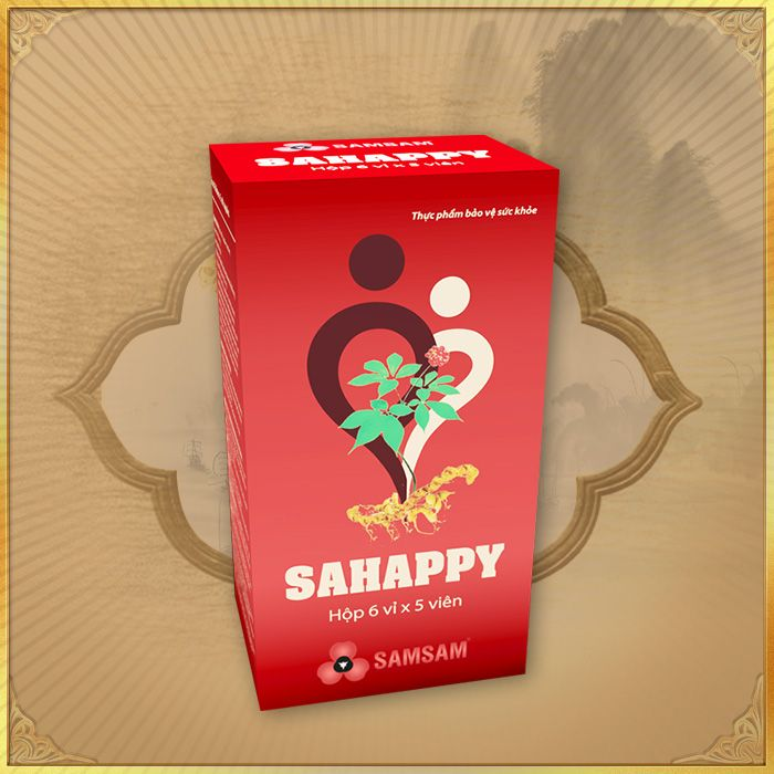 Thực phẩm bảo vệ sức khỏe Viên sâm Ngọc Linh Sahappy