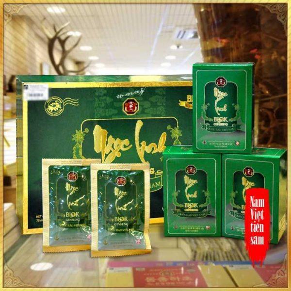 Tinh chất Sâm Ngọc Linh Kon Tum thượng hạng hộp 15 gói NS186