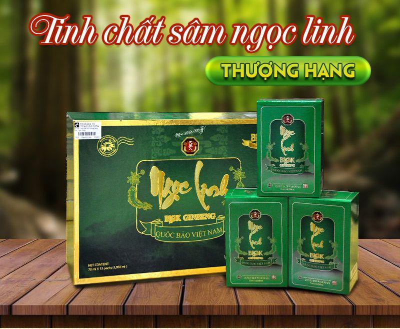 Tinh chất Sâm Ngọc Linh Kon Tum thượng hạng hộp 15 gói NS186 1