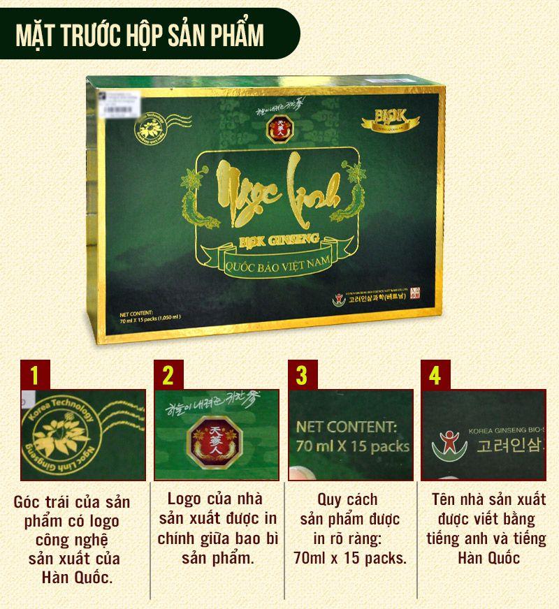 Tinh chất Sâm Ngọc Linh Kon Tum thượng hạng hộp 15 gói NS186 3