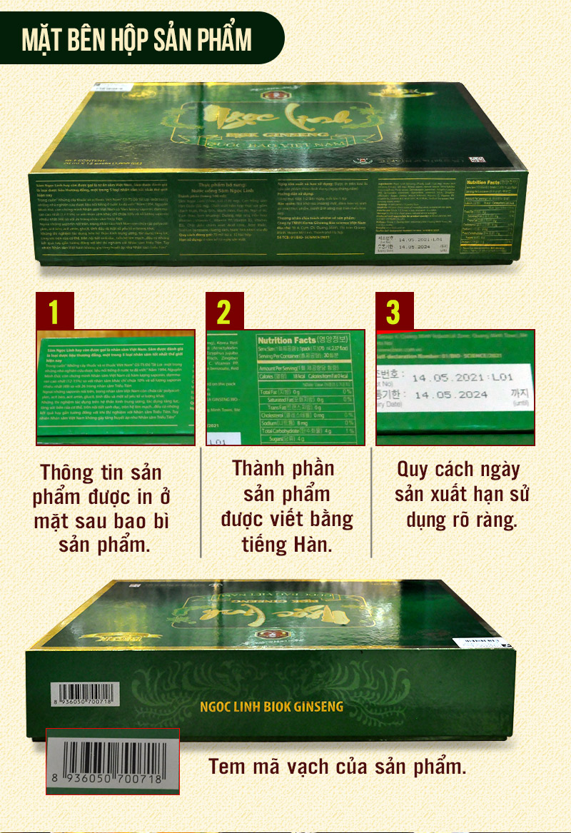 Tinh chất Sâm Ngọc Linh Kon Tum thượng hạng hộp 15 gói NS186 4