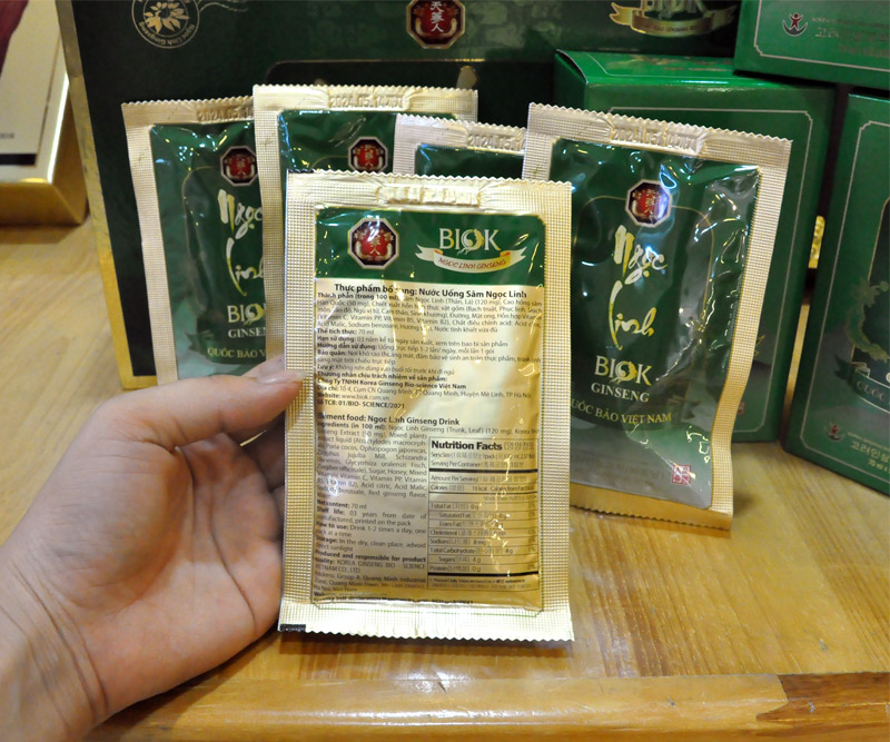 Tinh chất Sâm Ngọc Linh Kon Tum thượng hạng hộp 15 gói NS186 11